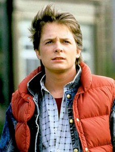 """""""Michael J. Fox as Marty McFly in Back to the Future, 1985"""" by Source."""