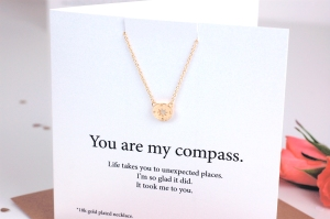 Valentines Necklace Compass1 £19.95  www.madewithlovedesigns.co.uk