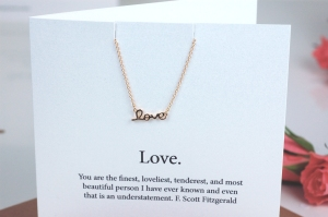 Valentines Necklace Love close up £19.95  www.madewithlovedesigns.co.uk