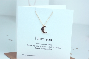 Valentines Necklace Moon £19.95  www.madewithlovedesigns.co.uk